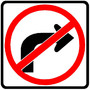 No Right Turn Roadway Sign